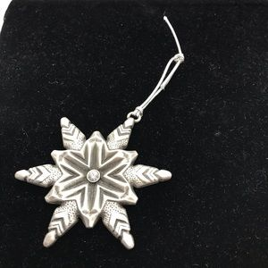 Pewter Snowflake Christmas Ornament